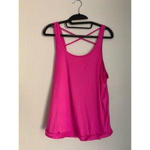 SPLITS59 Pink Devon Strappy Activewear Tank Top